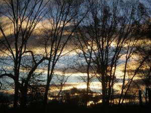 Sunrise on Saturday morning in Rosendale. Shortly after, the sun disappeared for another day