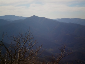 Here's Cold Mountain, of literary and movie fame, as seen from Mt Pisgah.
