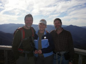 Sky-high on Mt Pisgah.