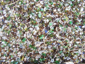 Ground glass mulch!