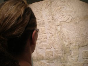 Checking out the Mayan art in the New Orleans Art Museum
