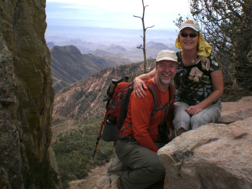 At the top of Emory Peak, highest peak in Big Bend.