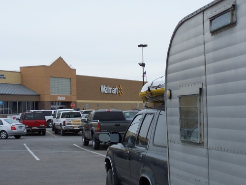 Walmart parking lot in Maine. First of a half-dozen Walmart stops for the night