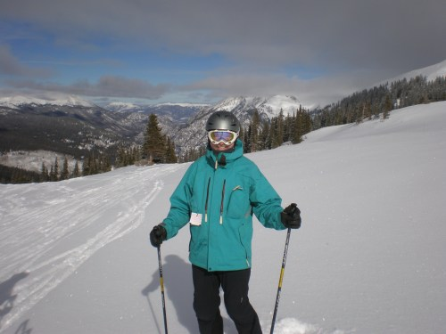 My wonderful David. Happiest man on Earth - to be skiing in Colorado!