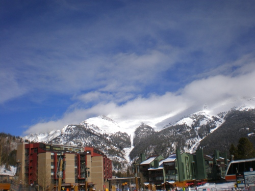 Some of the Copper Mountain base lodges