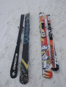 "My little Blizzards are SO ""old school"" by comparison.  (And exactly the opposite of a powder ski)"