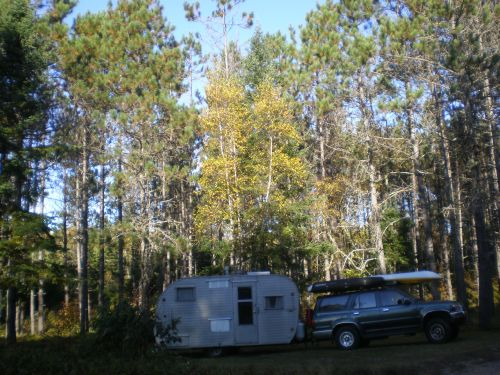 """In an """"illegal"""" spot in PRL in Maine. We realized, in the morning, that it was someone's driveway."""