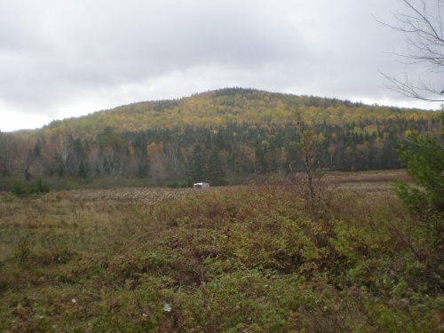 At Baxter State Park, ME. The small silver dot in the distance is the Tramper.