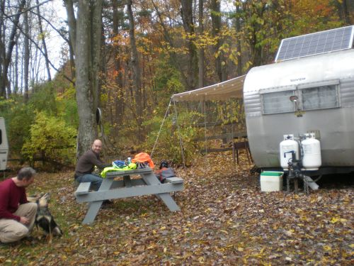 Creek View campground with Jason & Blue, Rosendale, NY