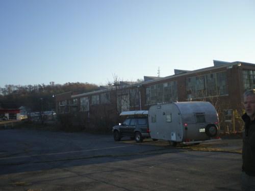 In an abandoned school parking lot in Waynesboro, VA