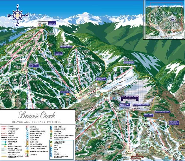 Monarch Mountain Ski Resort The Voyage Of The Tramper - Beaver creek ski trail map