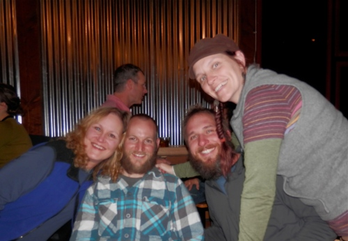 me, Jeff, Gabe & Marci. Don't know who belongs to that head in the background