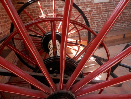 Inside the firehouse. It appeared so small, considering it's importance in our history.