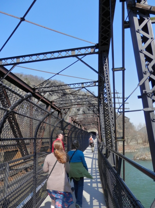 We walked the railroad bridge across the Potomac for a hike in the woods.